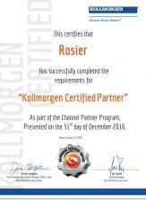 Certificat-Kollmorgen certificat support technique de nos ingenieurs