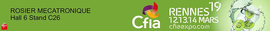 Rosier Mécatronique sera présent au CFIA de Rennes 2019